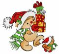 Christmas presents for you 2 embroidery design