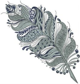 Gorgeous feather machine embroidery design