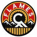 Calgary Flames alternative logo embroidery design