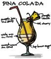 Pina Colada cocktail embroidery design