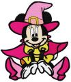 Minnie Mouse witch costume embroidery design