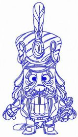 Wooden nutcracker machine embroidery design