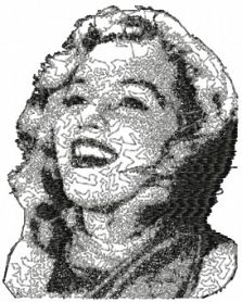 Free Marilyn Monroe embroidery design