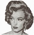 Marilyn Monroe photo stitch free embroidery design
