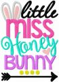 Little miss honey bunny free embroidery design