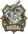 Baseball badge 2 embroidery design