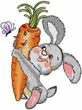 Bunny carrot and butterfly