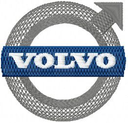 Volvo Logo machine embroidery design