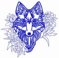 Tribal wolf 5 embroidery design