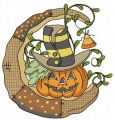Halloween pumpkin embroidery design