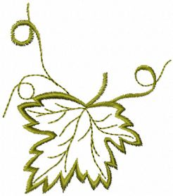 Maple Leaf free machine embroidery design