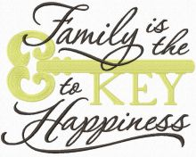 Family is the Key to happiness