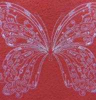 Vintage butterfly free embroidery design