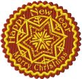 Christmas Snowflake Label embroidery design