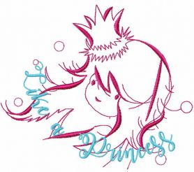 Like a princess free embroidery design
