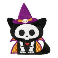 Skelanimals Halloween Cat