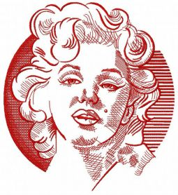 Marilyn Monroe sketch machine embroidery design