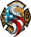 USA Eagle Firefighter embroidery design