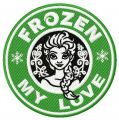 Frozen My love embroidery design