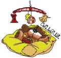 Baby teddy sweet dreams embroidery design