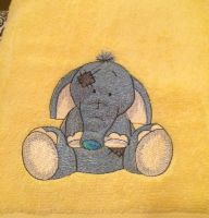 My cute elephant design on towel1