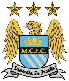 Manchester City Football Club machine embroidery design