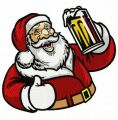 Santa with beer 2 embroidery design