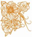 Big rose flowers 3 embroidery design
