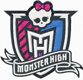 Monster High machine embroidery design