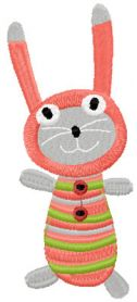 Sock bunny machine embroidery design