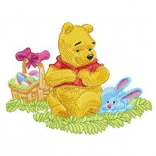 Winnie Pooh and Easter Bunny