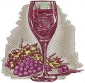Red wine embroidery design