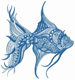 Mosaic fish 5 machine embroidery design