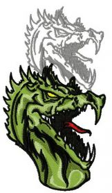Dragon's shadow 10 machine embroidery design