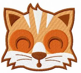 Sleeping fox face free embroidery design