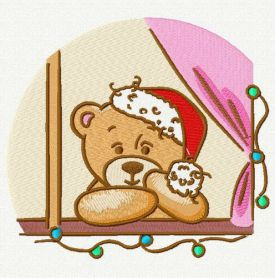 Waiting for Christmas 2 machine embroidery design