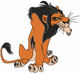 Scar machine embroidery design from Lion King collection