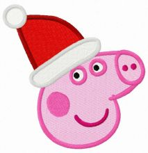 Peppa Pig in Santa hat