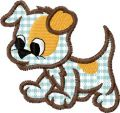 Funny dog applique free embroidery design