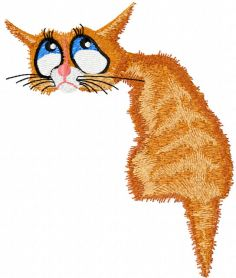 Nostalgic cat free machine embroidery design