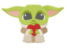 Yoda with Valentine card