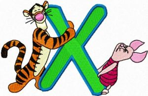 Tigger and Piglet letter X