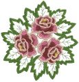Rose lace doily embroidery design
