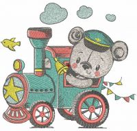 Teddy train driver