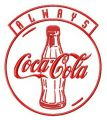 Always Coca-Cola embroidery design