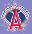 Los Angeles Angels of Anaheim modern logo embroidery design