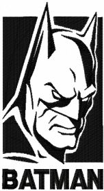 Batman Evil Fears The Knight machine embroidery design