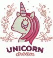Unicorn dream 4 embroidery design