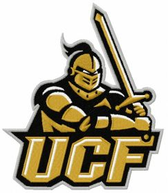 UCF Knights logo 2 machine embroidery design