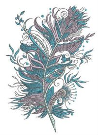 Firebird's feather machine embroidery design